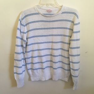 Vintage striped cotton knit sweater